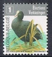 Année 2010 - COB 4042** - Oiseaux - Foulque Macroule - Timbre D'élection - Cote 0,80€ - Belgium