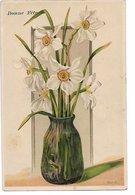 L100F277 - Bonne Fête - Bouquet De Narcisses Dans Un Vase - WW  N°5694 - Carte Gauffrée - Fêtes - Voeux