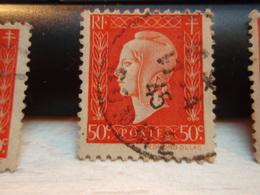 Timbre N°: 685 Marianne De Dulac 50 C Orange. Oblitéré. 1945 SOMME - 1944-45 Marianne De Dulac