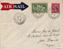 J71 - Marcophilie - Lettre France Vers Belgique - Par Avion - 1931 - 1927-1959 Covers & Documents
