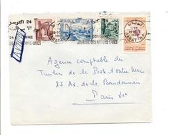 MAROC AFFRANCHISSEMENT COMPOSE SUR LETTRE POUR LA FRANCE 1962 - Marocco (1956-...)