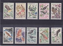 MONACO 1962 OISEAUX Yvert 581-590 NEUF** MNH Cote :18,50 Euros - Monaco