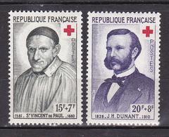 N° 1187 Et 1188 Au Profit De Al Croix Rouge:Saint Vincentde Paul Et H.Dunant: Série En  Timbres  Neuf Impeccable - Unused Stamps