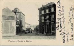 Tamines Rue De La Station Circulée En 1901 - Sambreville