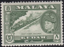 Malaya Kedah 1957 MH Sc 87 8c East Coast Railway, Sultan Tungku Badlishah - Kedah