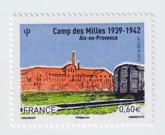"""TIMBRE -  2012  - Camp Des Milles , Aix En Provence    -  N°  4685   - """"camp D' Internement """"      Neuf Sans Charnière - France"""