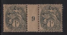 Type Blanc - N°107 Type IB - 1c Ardoise - Millésime 9 De 1919 - Papier GC - ** Neuf Sanss Charniere - Cote 21€ - Millesimi