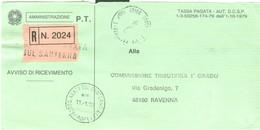 AMMINISTRAZIONE P.T.-AVVISO DI RICEVIMENTO-I.P.Z.S.-MOD.P.V.-1993-USO COMMISSIONE TRIBUTARIA-POSTE S.AGATA SUL SANTERNO- - Other