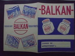 PROTEGE CAHIER - YOGHOURT : BALKAN - Carte Assorbenti