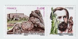 """TIMBRE -  2012  -   Série Touristique ,Belfort   -  N°  4697  -     """"Lion De Bartholdi """"      Neuf Sans Charnière - France"""