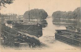 92) ASNIERES : Vue Sur Le Pont De Clichy (1905) Péniches - Asnieres Sur Seine