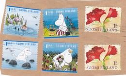 Finlande 2009 Fragment De Lettre 6 Timbres - Used Stamps