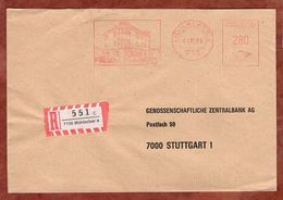 Einschreiben Reco, Absenderfreistempel, Genossenschaftsbank, 280 Pfg, Muehlacker 1984 (92267) - Machine Stamps (ATM)