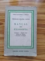 Brasil 1961 Manual De Filosofia Theobaldo Miranda Santos Companhia Editora Nacional Exemplar 6685 São Paulo Science - Schulbücher