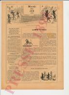 2 Scans Presse 1890 Humour Lawn-Tennis Sport Vintage Raquette Ancienne Caniche Victor Hugo Joue à Saute-mouton 229CH2 - Non Classés