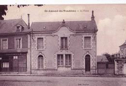 CPA : Saint Amand De Vendôme (41) La Poste     Et Le Café Trillault       Ed   Porcher Voyagée - Other Municipalities