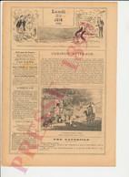 2 Scans Presse 1890 Humour Lawn-Tennis Sport Vintage Raquette Williams Ancienne Fontaine Bleue Alger 229CH2 - Non Classés