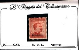 93536) ITALIA-25C. MICHETTI-SENZA FILIGRANA Soprastampato Pechino - 1917 -UN PEZZO-MLH* - 11. Foreign Offices