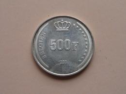 500 Frank Zilver Boudewijn 1* 40-Jarig Regeringsjubileum 1991 D ( Morin 852 Duits - For Grade, Please See Photo ) ! - 11. 500 Francs