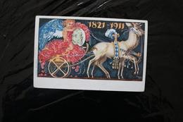Germany Bavaria 1821-1911 Colourful Post Card Cancelled 1911 A04s - Bavaria