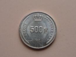 500 Frank Zilver Boudewijn 1* 40-Jarig Regeringsjubileum 1991 VL ( Morin 852 VL - For Grade, Please See Photo ) ! - 11. 500 Francs