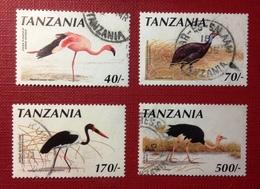 Tnzania,1990 - Birds. Lot Of Four Stamps . Used NH. - Tanzanie (1964-...)