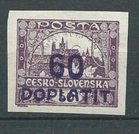 Tchecoslovaquie   - Timbre Taxe  - Yvert N°   24 *  - Ay 14511 - Impuestos
