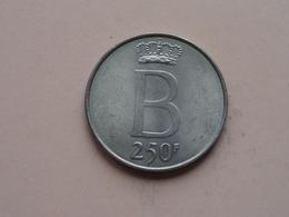250 Frank Zilver Boudewijn 1 * 1976 VL ( Morin 781 VL - For Grade, Please See Photo ) ! - 10. 250 Francs