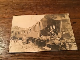 Carte-photo Accident De Train Déraillement - Chemins De Fer