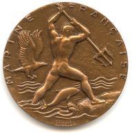 Ancienne Et Rare - Médaille Marine Française - Marine Nationale Ecole Des Fusiliers Clique / Georges GUIRAUD - H. DUBOIS - Sonstige