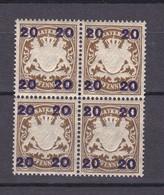 Bayern - 1920 - Michel Nr. 177 - Viererblock - Postfrisch - Bayern