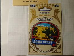 Cp Blason écusson Double Adhésif Autocollant La Dune Du Pilat  Aufkleber Wappen Coat Of Arms Sticker Adesivo Adhesivo - Oggetti 'Ricordo Di'