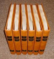 DDR Vordruckblätter SAFE Dual 1949 - 1990 Komplett In 6 Lederfarbenen Ringindern Typ Yokama  Neupreis über 1000,- Euro ! - Albums & Binders