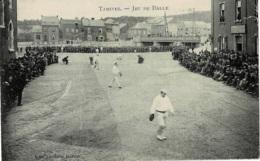 Tamines Jeu De Balle  Circulée En 1911 Rare !!!! - Sambreville