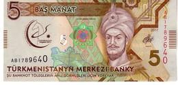 Turkmenistan P.37  5  Manat 2017  Unc - Turkmenistan