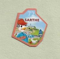 """Magnets. Magnets """"Le Gaulois"""" Départements Français. Sarthe (72) - Publicitaires"""