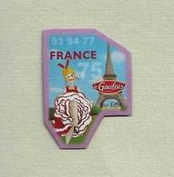 """Magnets. Magnets """"Le Gaulois"""" Départements Français. France (75-77-93-94) - Publicitaires"""