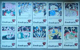 10 Buvards LA VACHE QUI RIT Avec Pochette - Fromageries BEL - Série 2 LE CIRQUE - Illustré Par ALAIN SAINT OGAN - Buvard - Buvards, Protège-cahiers Illustrés