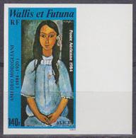 WALLIS & FUTUNA (1984) Portrait Of Alice By Modigliani. Imperforate. Scott No C135, Yvert No PA138. - Other