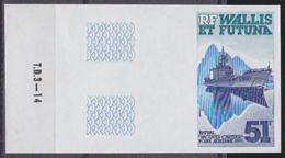"WALLIS & FUTUNA (1985) Ship ""Jacques Cartier"". Imperforate. Scott No C143, Yvert No PA146. - Other"