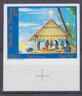 WALLIS & FUTUNA (1987) Christmas Scene. Imperforate. Scott No C156, Yvert No PA159. - Other