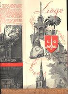 Tourist Folder Dépliant Touristique / X2 LIEGE Belgique C.1950 - Dépliants Touristiques