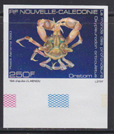 NEW CALEDONIA (1993) Deep Sea Spider Crab (Oxypleuridon Oculatus). Imperforate. Scott No C254, Yvert No PA307. - Ongetande, Proeven & Plaatfouten