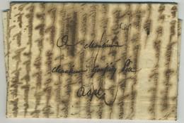 Faire-part, Lettre De Décès. Vignette Ange. Marie-Anne Le Bas De Fresne, épouse De De Chastan De La Fayette. Apt. Caen. - Marcophilie (Lettres)