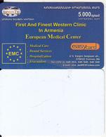 ARMENIA - EMC, ArmenTel Prepaid Card 5000 AMD, Exp.date 30/10/06, Printing Test Card(reverse White) - Arménie