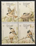 Açores - N° 395/8 **  (1990) Oiseaux - Azores