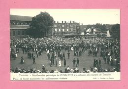C.P. Tamines = 25.05.1919 : Manifestation Patriotique à La Mémoire Des Martyrs : Place Où Furent Massacrées Les Victimes - Sambreville