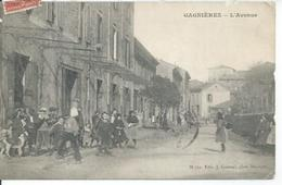 GAGNIERES - L'AVENUE  ( Animées ) - France