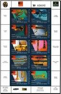 MB 32) Venezuela 2005 Mi 3695-3704 **: Sinfonie Orchester Caracas, Instrumente - Music