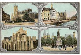 Belgique --GENT--GAND --Multivues ....pub Chemins De Fer Belges.....carte Colorisée .......à Saisir - Gent